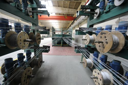 Wire rope production line