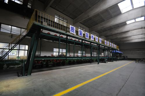 Large angle conveyor belt production line